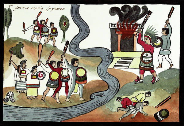 Aztec Photograph - Battle Of Coyoacan by Library Of Congress