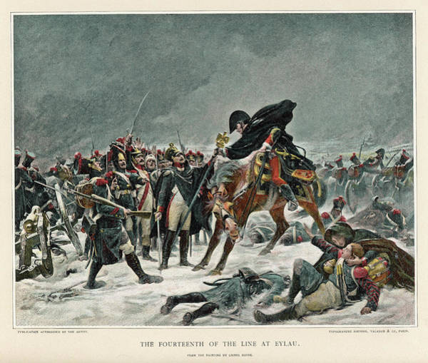 Wall Art - Drawing - Battle Of Eylau After Bitter Fighting by Mary Evans Picture Library