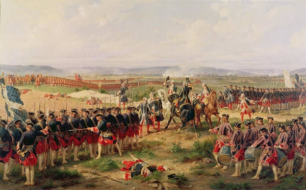 Drum Photograph - Battle Of Fontenoy, 11 May 1745 The French And Allies Confronting Each Other by Felix Philippoteaux