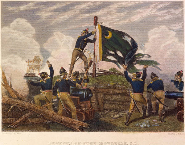 Continental Army Photograph - Battle Of Fort Moultrie by Granger