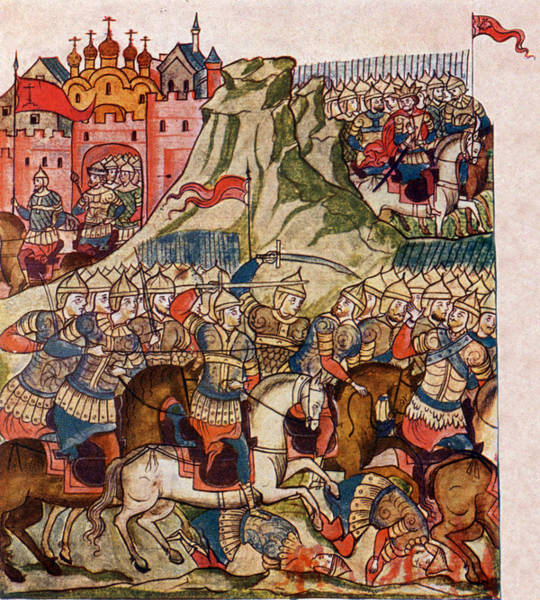 Wall Art - Photograph - Battle Of Kulikovo, 1380 by Science Source