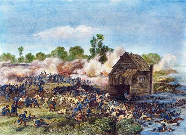 Gunfire Photograph - Battle Of Long Island, 1776 by Granger