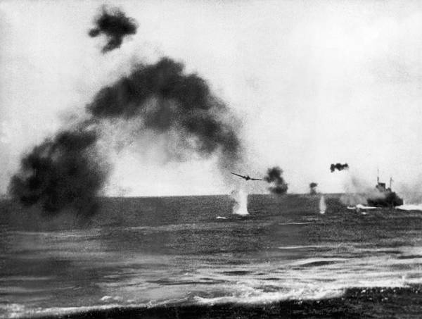 Photograph - Battle Of Midway by Underwood Archives