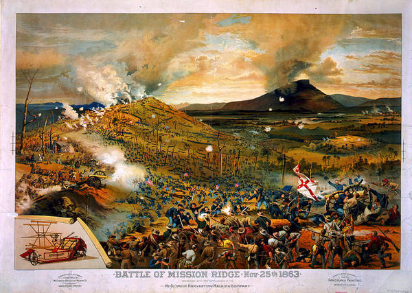 Missionary Ridge Painting - Battle Of Missionary Ridge by Celestial Images