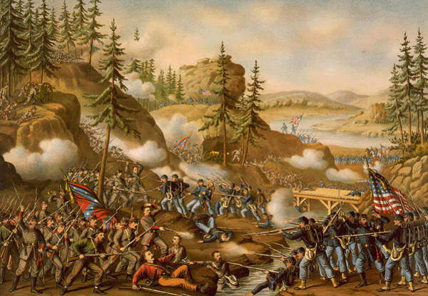 Missionary Ridge Painting - Battle Of Missionary Ridge by MotionAge Designs