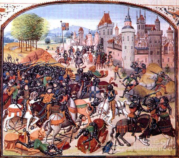 Photograph - Battle Of Nevilles Cross 1346 by Photo Researchers
