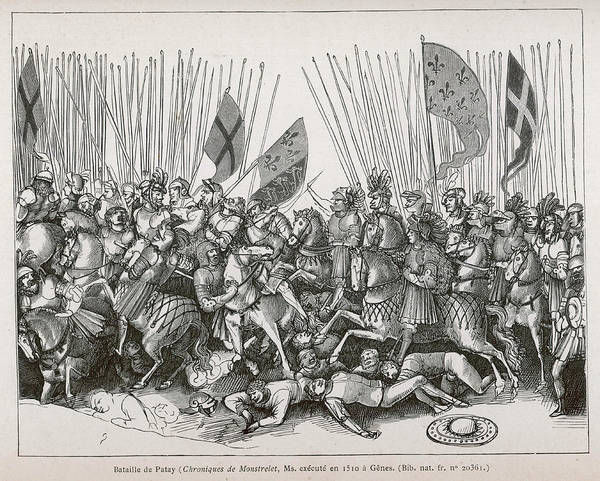 Wall Art - Drawing - Battle Of Patay The French Under Jeanne by Mary Evans Picture Library