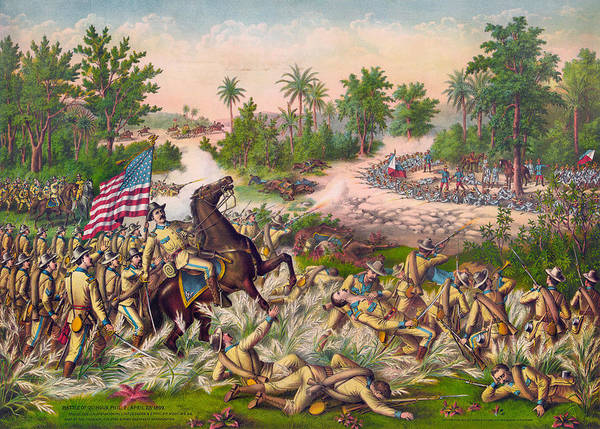 Wall Art - Painting - Battle Of Quingua, 1899 by Granger