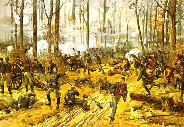 Wall Art - Painting - Battle Of Shiloh by Vintage Image Collection