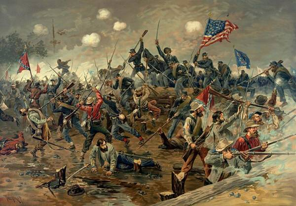 Painting - Battle Of Spotsylvania American Civil War by Movie Poster Prints