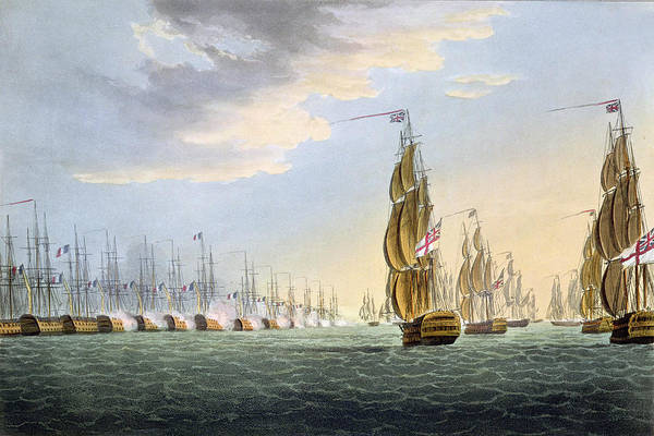 Egypt Drawing - Battle Of The Nile by Thomas Whitcombe