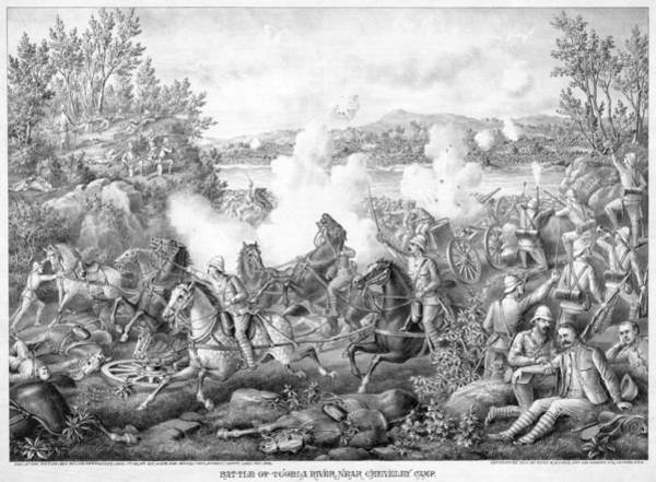 Wall Art - Painting - Battle Of Tugela River, The Battle by Granger