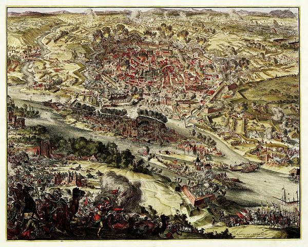 Siege Photograph - Battle Of Vienna by Library Of Congress, Geography And Map Division
