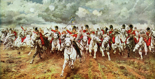 Wall Art - Drawing - Battle Of Waterloo  'scotland by Mary Evans Picture Library