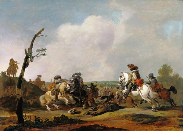 Wall Art - Painting - Battle Scene, C1651 by Granger
