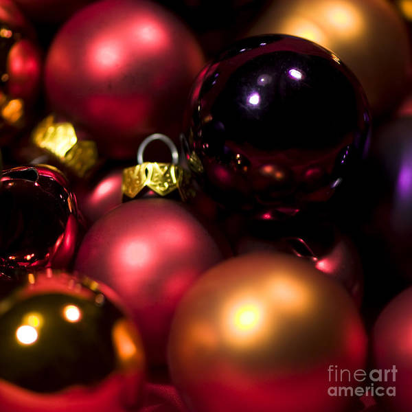 Yule Photograph - Bauble Abstract by Anne Gilbert