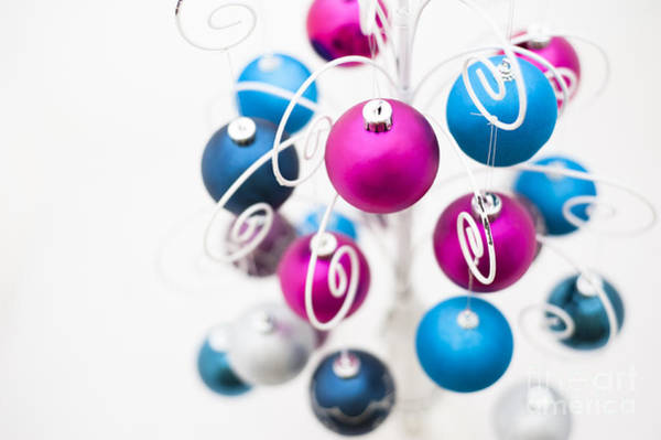 Cerise Photograph - Baubles From Above by Anne Gilbert