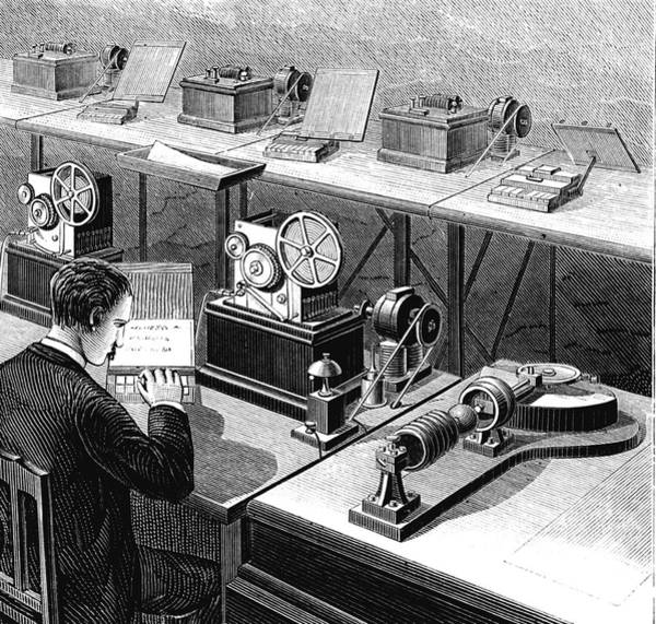 1888 Photograph - Baudot Telegraph System by Collection Abecasis