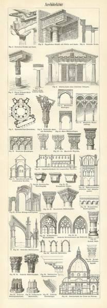 Building Drawing - Baustile I And Baustile II by German School