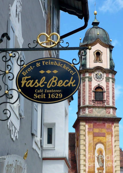 Photograph - Bavarian Bakery Sign  by Carol Groenen