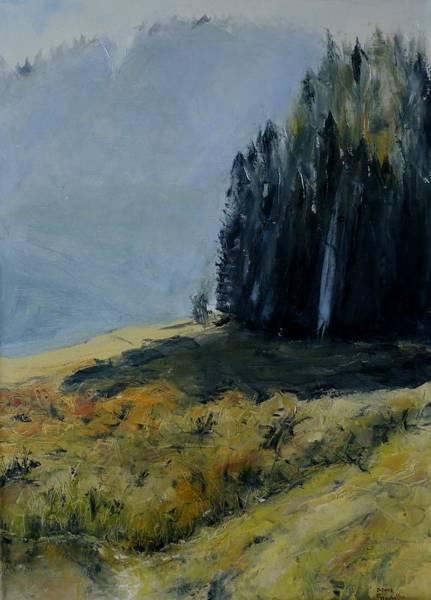 Bavarian Alps Painting - Bavarian Mountains Light by Karina Plachetka