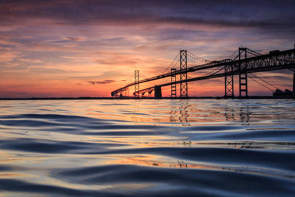 Bay Bridge Silk Art Print