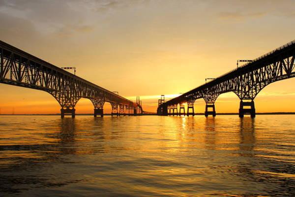 Wall Art - Photograph - Bay Bridge Sunset by Jennifer Casey