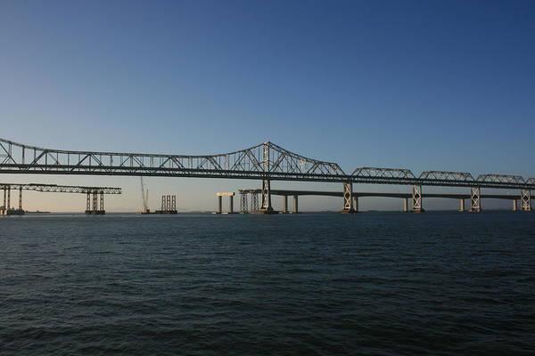 Photograph - Bay Bridge Under Blue Skies by Cynthia Marcopulos