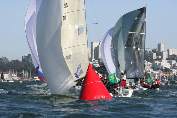Photograph - Bay Downwind Action by Steven Lapkin