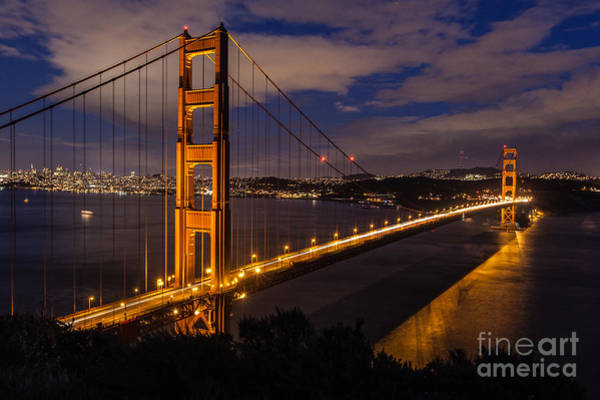 Photograph - Bay Lights by Charles Garcia