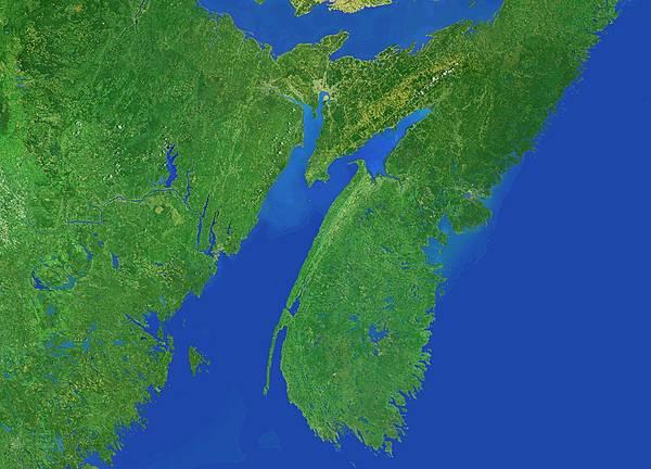 Atlantic Canada Wall Art - Photograph - Bay Of Fundy by Worldsat International/science Photo Library