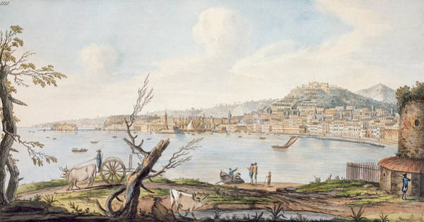 Several Wall Art - Drawing - Bay Of Naples From Sea Shore by Pietro Fabris