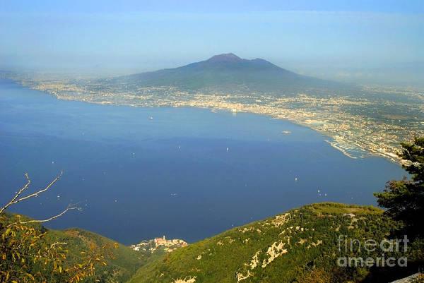 Photograph - bay of Naples with Vesuvius by Brenda Kean