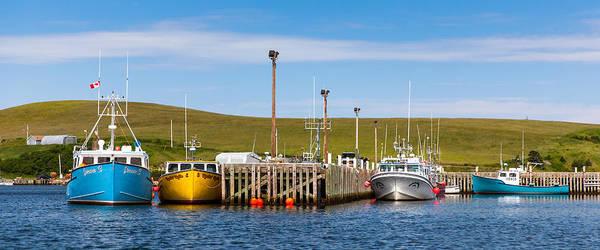 Cabot Trail Photograph - Bay Saint Lawrence Boats by Benjamin Bandimere