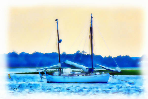 Photograph - Sailboat - Coastal - Bay Side Evening by Barry Jones