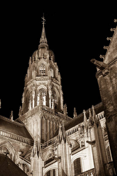 Wall Art - Photograph - Bayeux Cathedral At Night by W Chris Fooshee