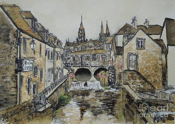 Arch Mixed Media - Bayeux In Coffee by Dianne  Ilka