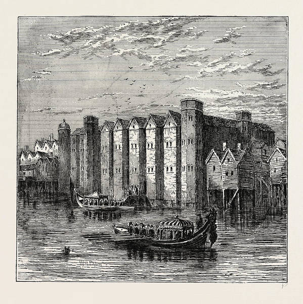 Wall Art - Drawing - Baynards Castle, 1790, London, Uk by Litz Collection