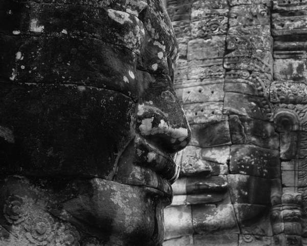 Boddhisatva Wall Art - Photograph - Bayon Faces by Lauren Rathvon
