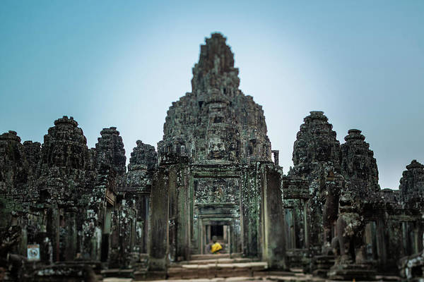 Cambodian Photograph - Bayon Temple And Buddhist Statue by © Francois Marclay