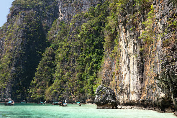 Phi Phi Island Photograph - Bays Of Koh Phi Phi Leh Island, Krabi by Pawel Toczynski