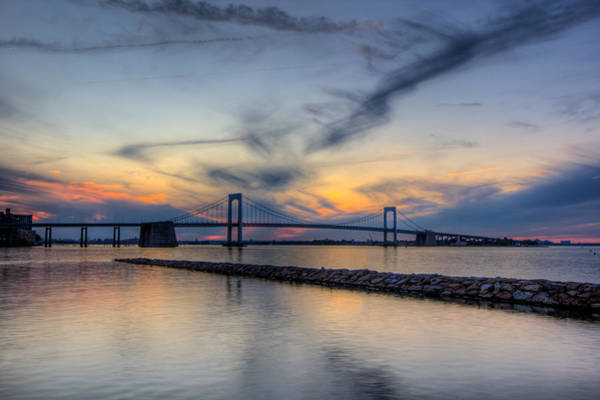 Long Neck Photograph - Bayside Sunset by David Hahn
