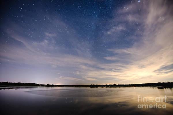 Fisheye Photograph - Bayville Nj Milky Way by Michael Ver Sprill