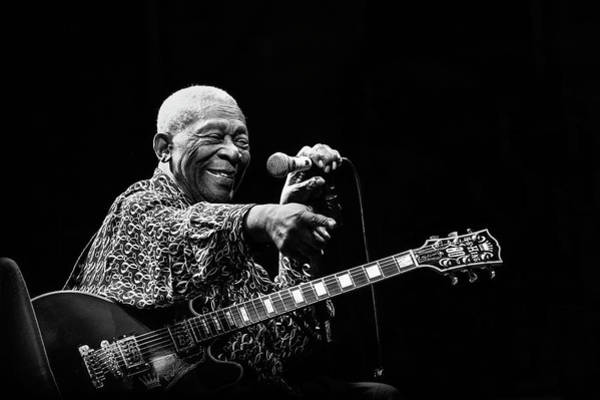 Microphone Photograph - Bb King by Alice Lorenzini