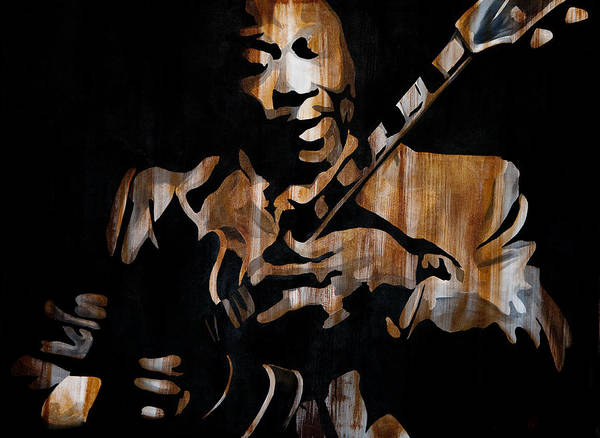 Wall Art - Painting - B.b. King Crazy About Lucille by Brad Jensen