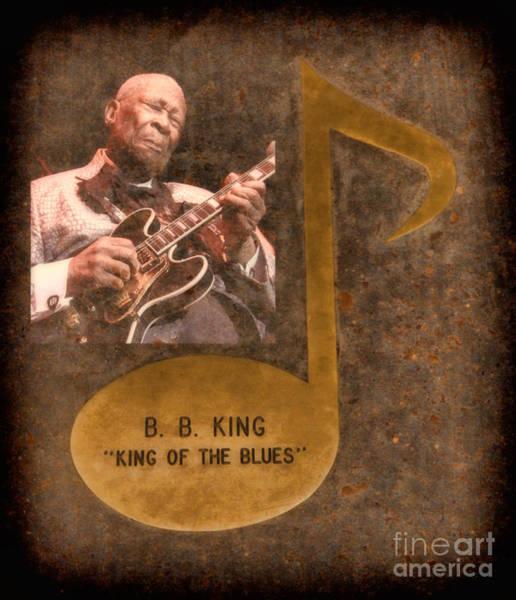 Bb King Note Art Print
