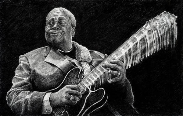Drawing - Bb King Of The Blues by William Underwood