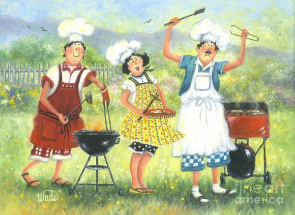 Bbq Painting - Bbq Chefs by Vickie Wade