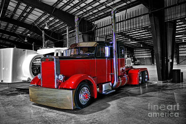 Wall Art - Photograph - B.c. Big Rig Weekend-needle Nose Pete  Catr5035a-14 by Randy Harris