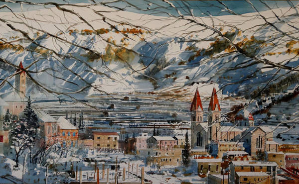Khalil Gibran Painting - Bcharre Lebanon by Martin Giesen
